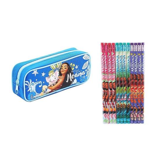Disney Moana Pencil Case Zippered Bag Canvas
